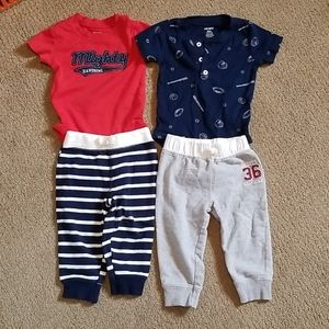 BABY  BOY  2 LOT CARTERS SIZE  9M
